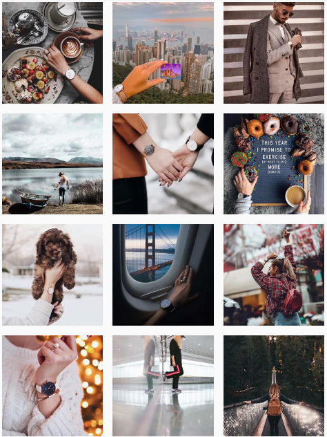 Daniel Wellington's UGC and Influencer-focused Instagram Feed.