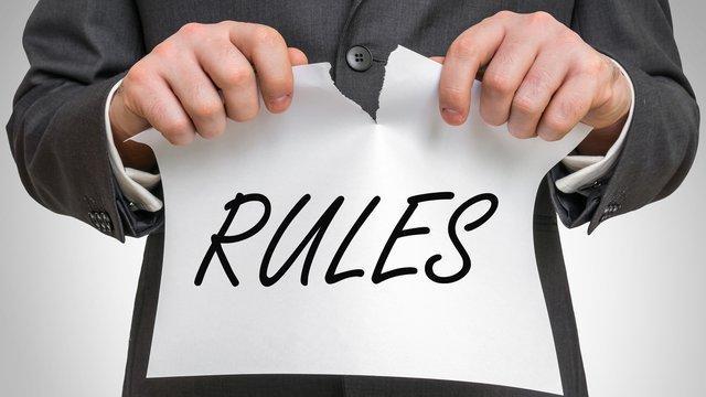 Breaking rules of web design