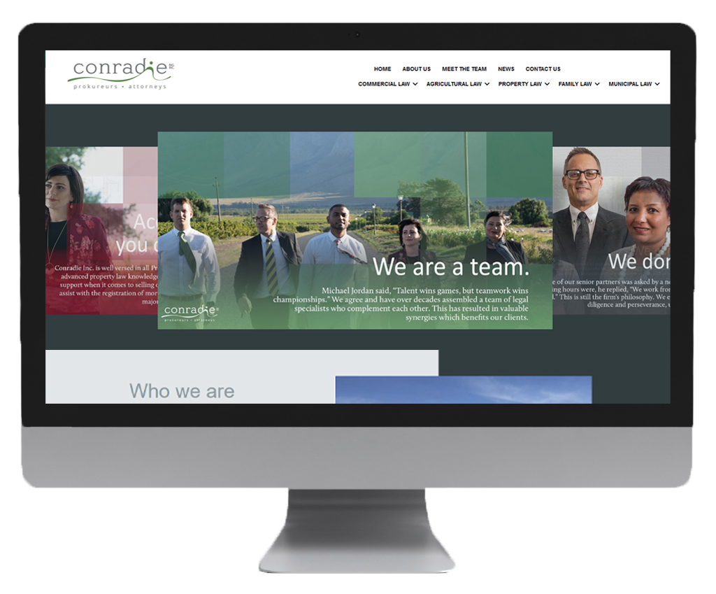 Conradie website design