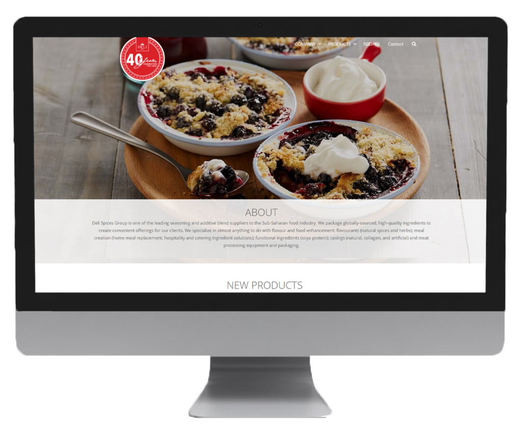Deli Spices Website Design