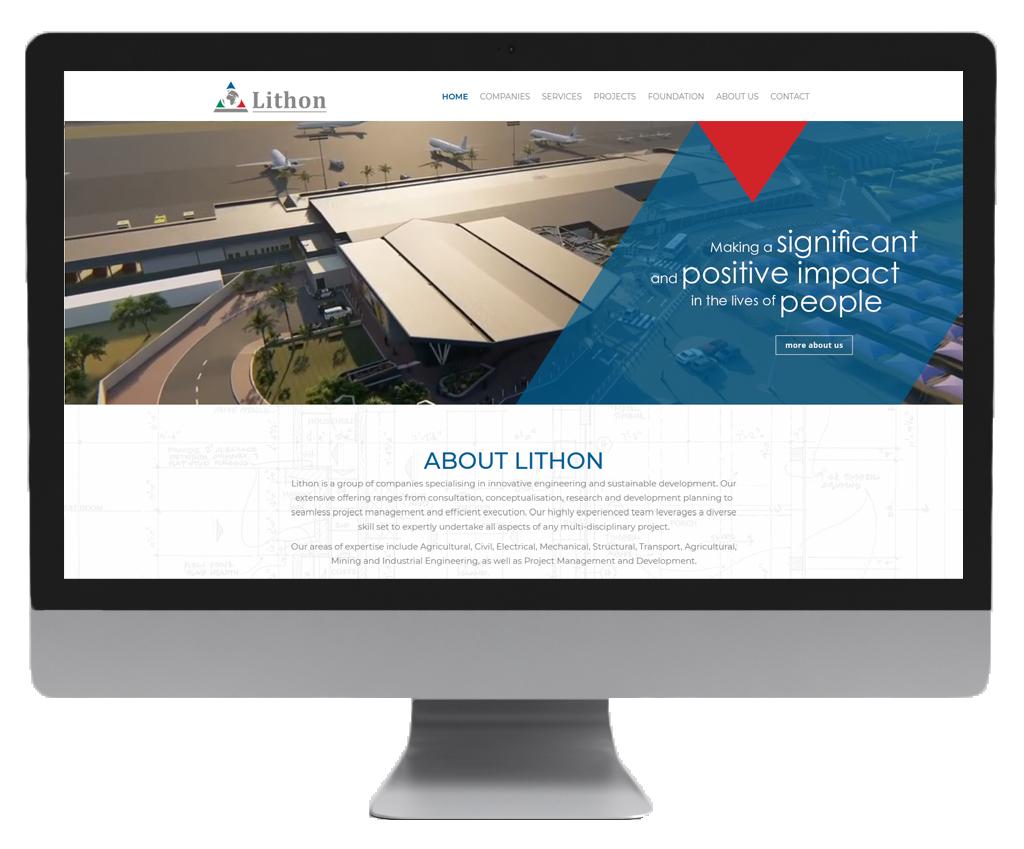 Lithon website design