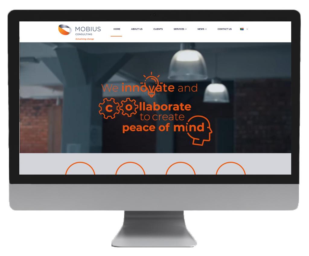 Mobius website design