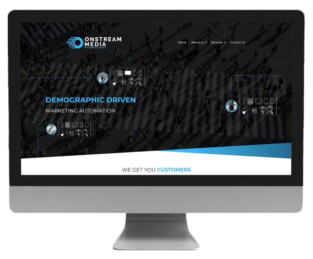 OnstreamMedia website design