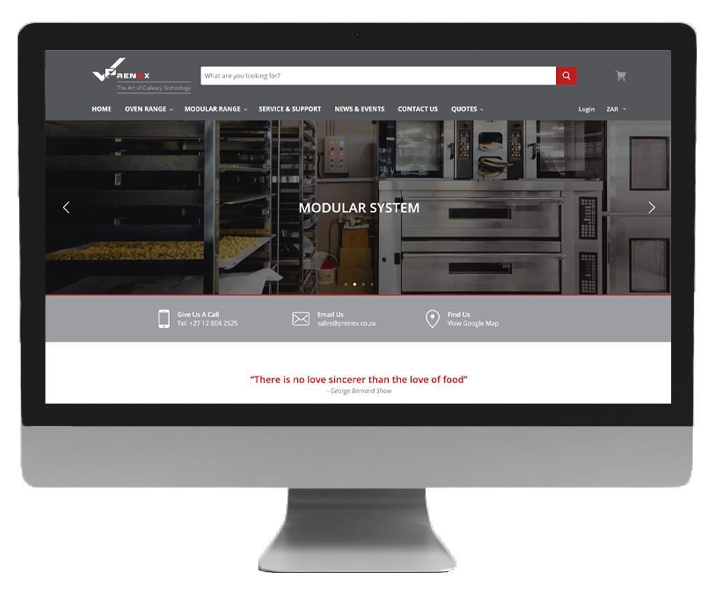 Prenox website design