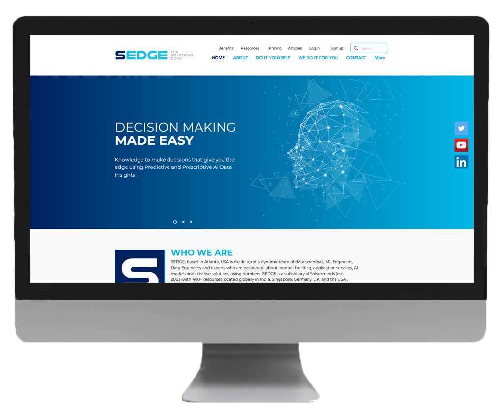 sedge website design s1