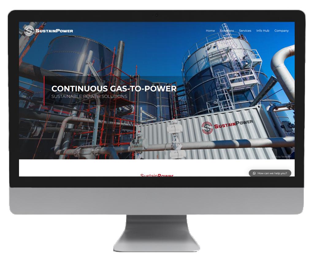 SustainPower website design