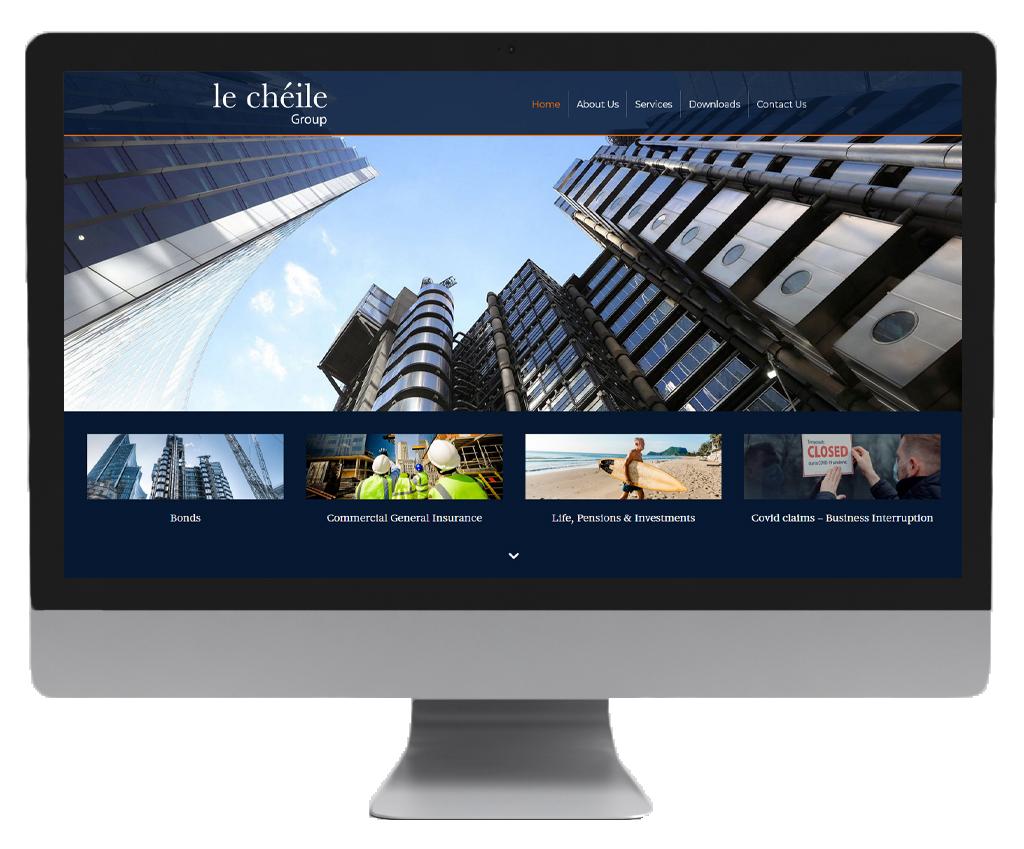 le cheile website design